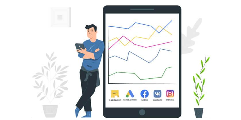 Определение эффективности рекламных компаний в интернете